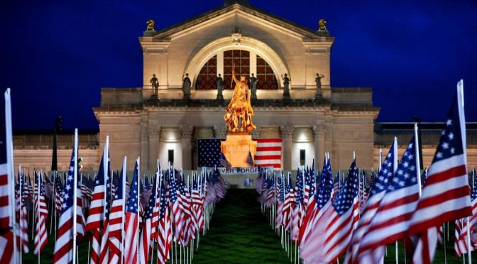 Flags of Valor at Art Hill in Forest Park – September 6 – 11th, 2016